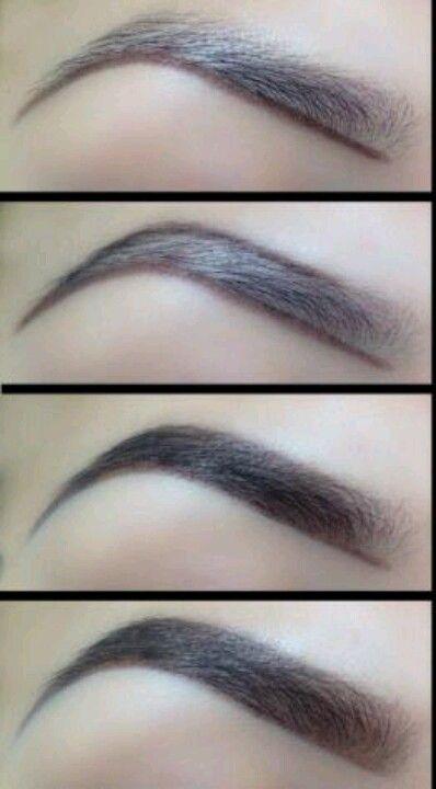 Like this eye brow shape!