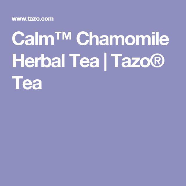 Calm™ Chamomile Herbal Tea | Tazo® Tea