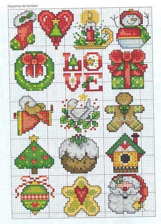 Navidad en punto de cruz