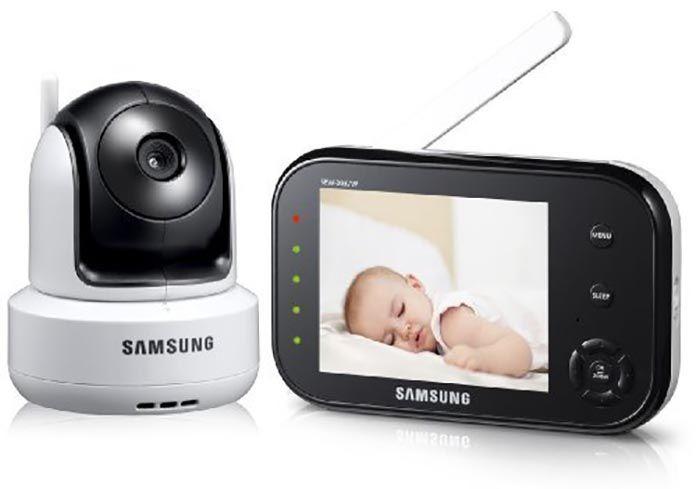 Le babyphone Samsung SEW-3037 est un modèle de babyphone vidéo très facile d'utilisation permettant de visionner son bébé à distance sans difficulté.
