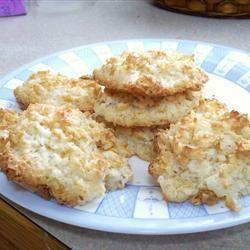 Kokosowe ciasteczka z płatkami kukurydzianymi