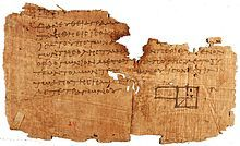 """A fragment of Euclid's """"Elements"""" on part of the Oxyrhynchus papyri"""