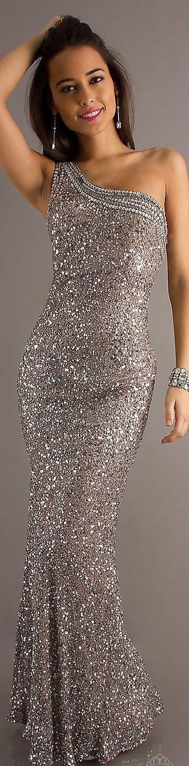 Glittery formal long dress