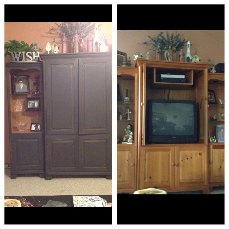 Entertainment Center Redo painted with Annie Sloan Chalk Paint