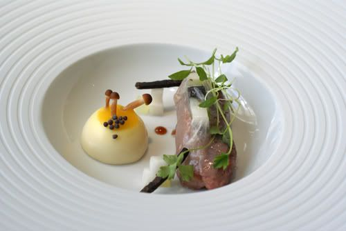 """""""Mad Hatter Tea"""" at The Fat Duck Restaurant, Bray, England"""