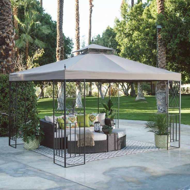 10X12 Gazebo Canopy Deluxe Patio Outdoor Tent Shelter Backyard Garden Furniture #Doesnotapply