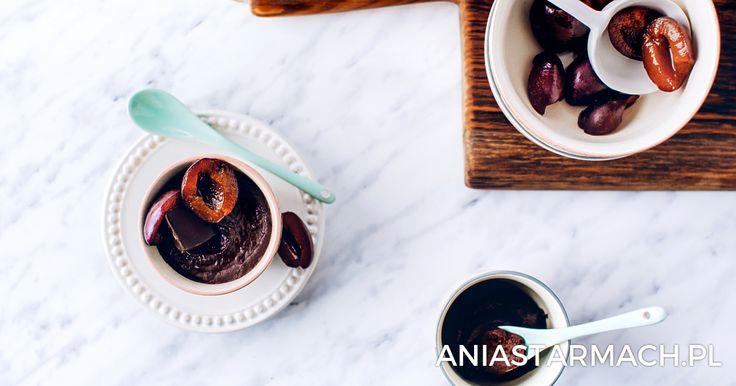 Deser czekoladowo-śliwkowy | Ania Starmach