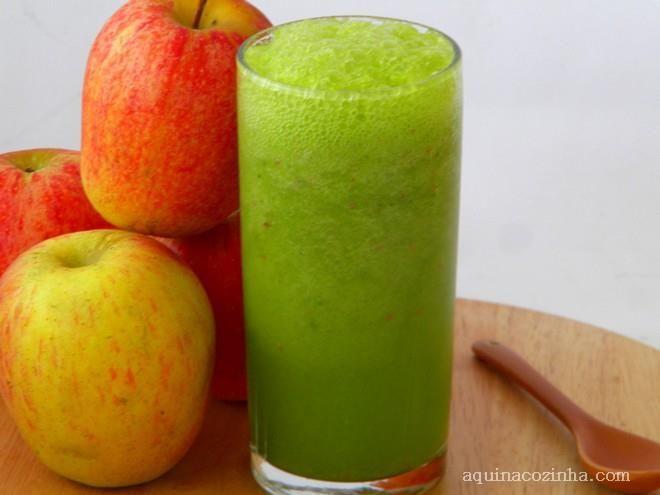 Ingredientes  couve flor maçã vermelha maçã verde    Modo de Preparo  Receita 1: Faça couve batida com leite e beba aos poucos durante um dia. Receita 2:  Cozinhe uma