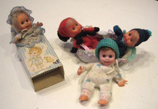 Les petits poupons dans les boites d'allumettes - Fin 70's -  Matchbox dolls
