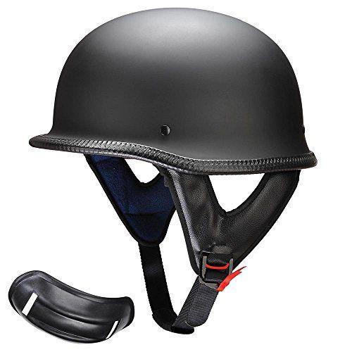 Yescom DOT German Style Motorcycle Half Helmet Open Face Cruiser Chopper Biker Skull Cap Helmet Black L. For product info go to:  https://www.caraccessoriesonlinemarket.com/yescom-dot-german-style-motorcycle-half-helmet-open-face-cruiser-chopper-biker-skull-cap-helmet-black-l/