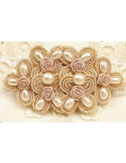 Beads Decorated Lace Hair Clip_Headwear_Accessories_Digbabies