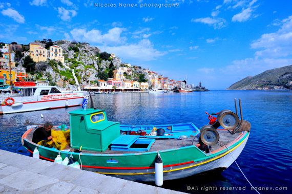 Symi, Greece ,Travel Photography by Nicolas Nanev Digital Photography,instant download,fine art print,photography,home decor