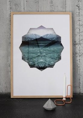 Diamond mirror poster