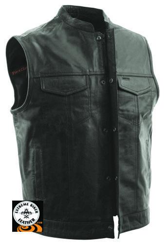 Extreme Biker Leather - FIM689 Mens Sharp Shooter MC Leather Vest, $149.99 (http://www.extremebikerleather.com/mens-sharp-shooter-motorcycle-leather-vest/)