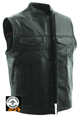 Extreme Biker Leather - FIM689 Mens Sharp Shooter MC Leather Vest, $149.99 (http://www.extremebikerleather.com/mens-sharp-shooter-motorcycle-leather-vest/)