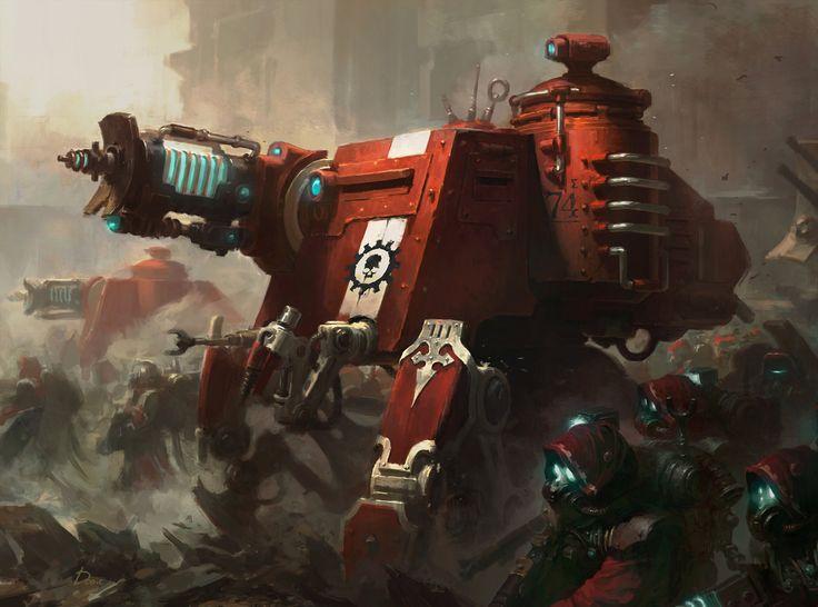 Warhammer 40000 'Skitarii Onager Dunecrawler' , Wonchun Choi (AKA Doo-chun) on ArtStation at https://www.artstation.com/artwork/JrPoz