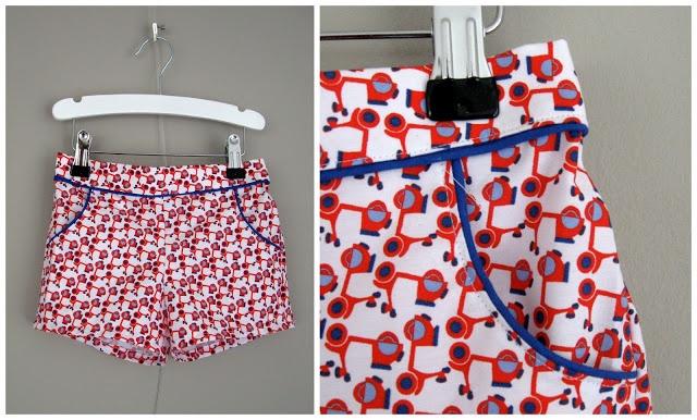 Kort broekje gemaakt naar het patroon van ikkeismooi.blogspot.com