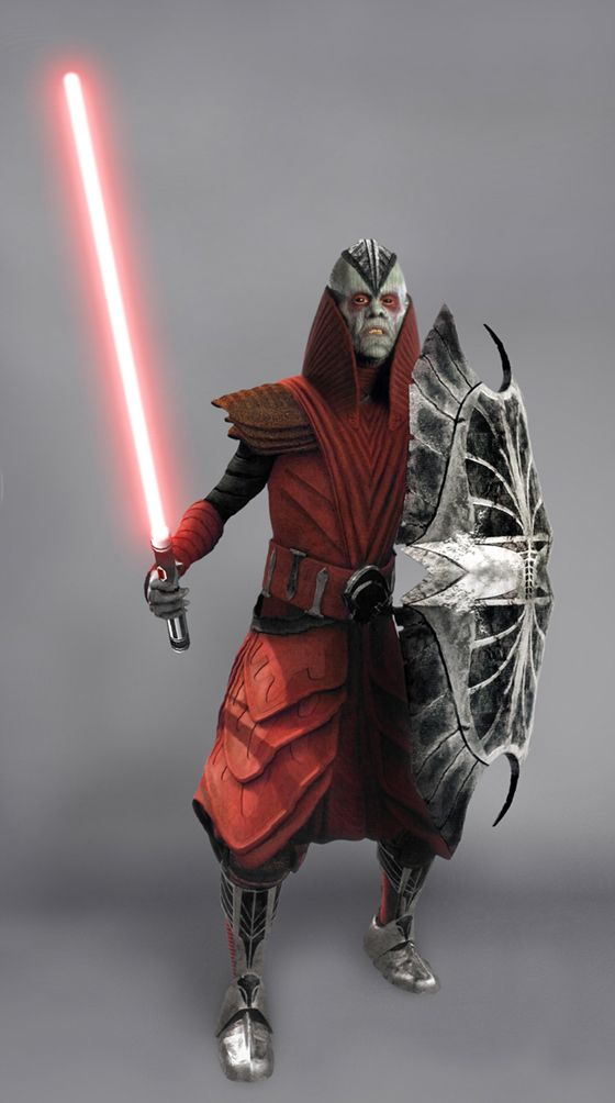 Darth Desolous - A male Pau'an Dark Lord of the Sith. Once a revered Jedi Master, he loses his proper identity after falling to the dark side of the Force. Appears in the video game Star Wars: The Force Unleashed.