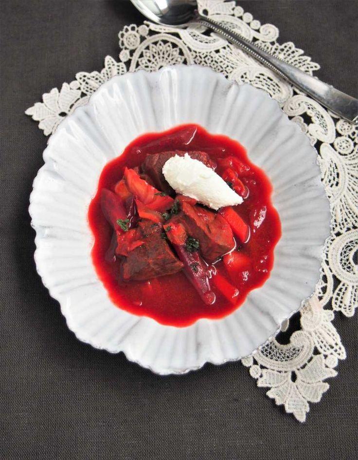缶詰ビーツでOK!世界三大スープ「ボルシチ」の本格レシピ - macaroni