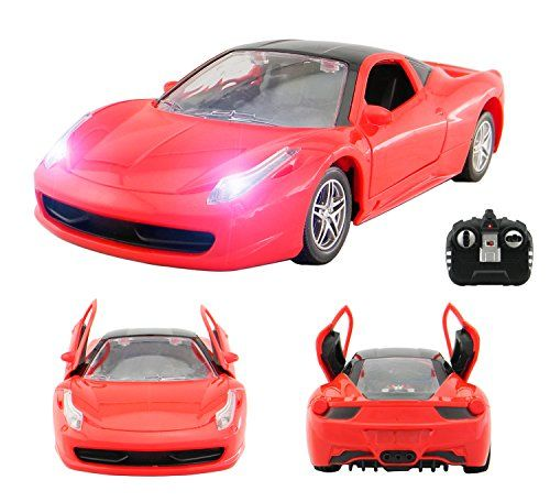 Ferrari+LaFerrari+Style+RC+Remote+Radio+Controlled+Toy+Car+with+Opening+Doors+via+Remote+and+Lights+–+PL9140+1:18+Model+Electric+Radio+Controlled+Ferrari+Style+RC+Car+27Mhz+–+RTR,+EP+(Red)
