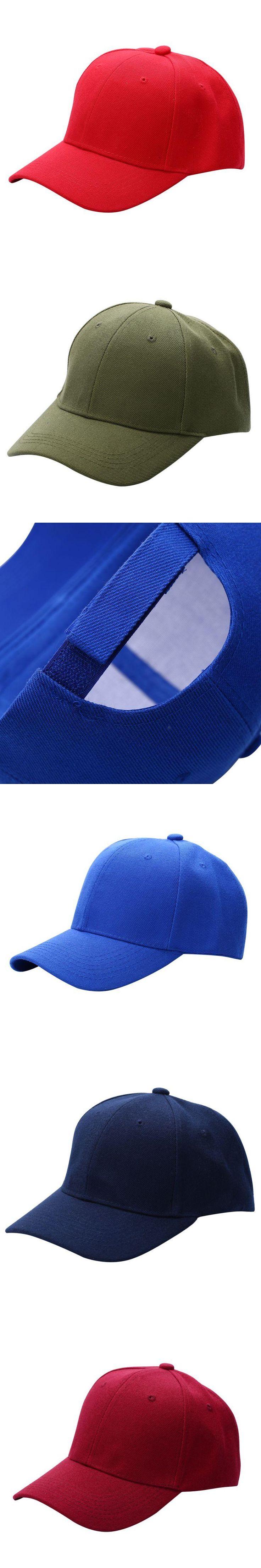 Men Women Plain Baseball Cap Unisex Curved Visor Hat Hip-Hop Adjustable Peaked Hat Visor Caps Solid Color