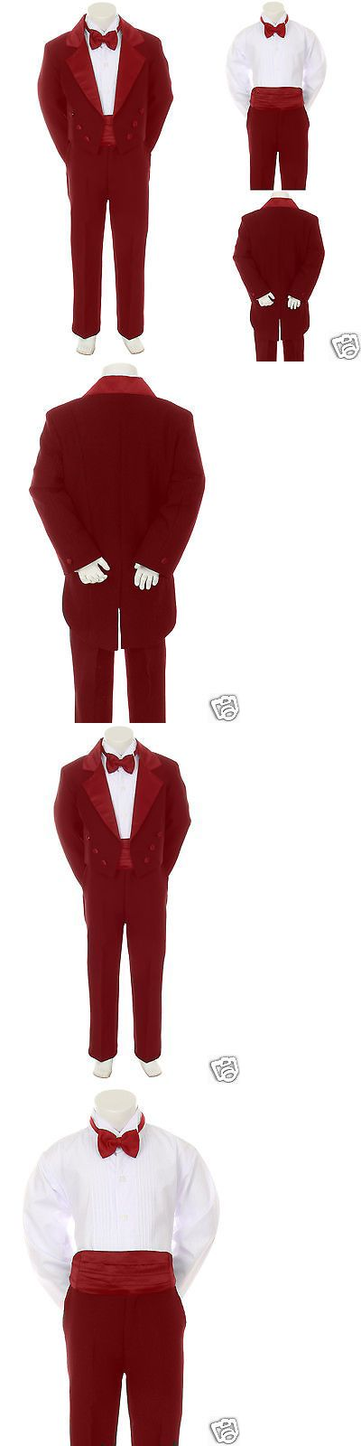 Suits 147337: Baby Infant Toddler Boy Burgundy Bow Tie Wedding Formal Tail Tuxedo Suit Sz S-4T -> BUY IT NOW ONLY: $64.99 on eBay!