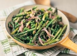 Sesame Stir-Fried Asparagus and Peas. Surprising there are 7 g of ...