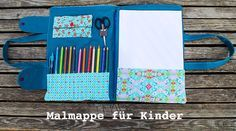 Nähanleitung - Malmappe für Kinder - https://www.handmadekultur.de/projekte/naehanleitung-malmappe-fuer-kinder_159038