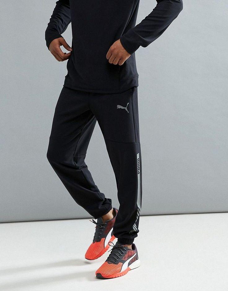 Puma Running Future Tech Fleece Pants In Black 59247801 - Black