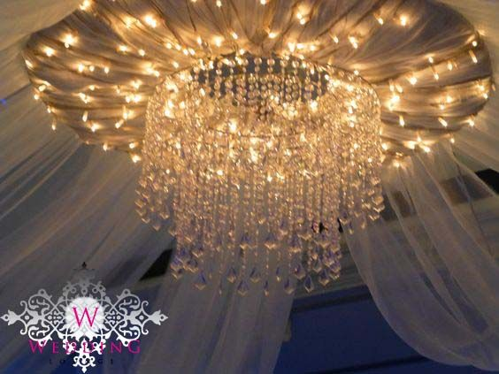 Beaded chandelier ceiling canopy accessory. .theweddinglounge.com & 16 best Ceiling Canopy images on Pinterest | Ceiling canopy ...