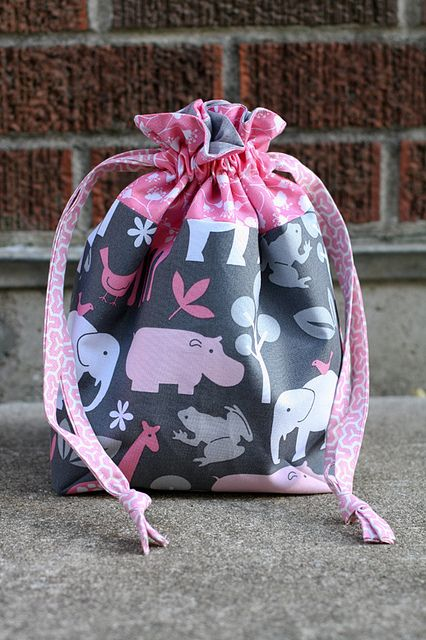sew: Lined Drawstring Bag Tutorial || In Color Order
