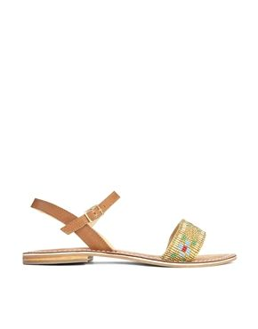 Park Lane Beaded Detail Flat Sandal