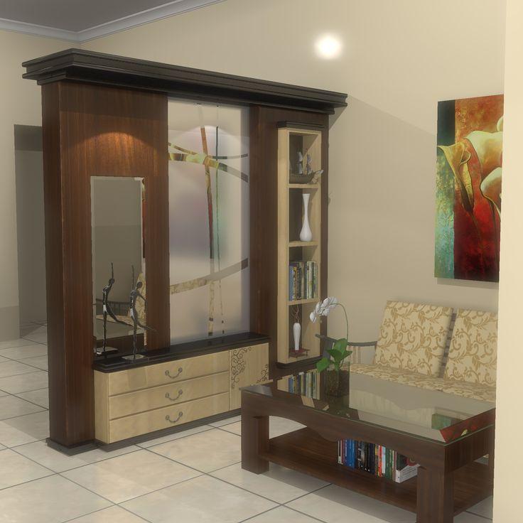 ruang tamu kediaman ibu Mariana, Bogor