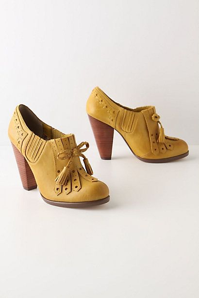 Cone toe, french stacked heel, tassel loafers?  Yes Please.  Seychelles at Anthropologie