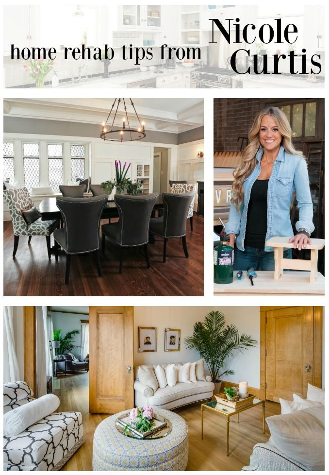 "Check out these great home rehab tips from Nicole Curtis to you channel your inner ""Rehab Addict""."