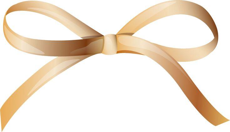リボンの見本-茶色の蝶結びリボン