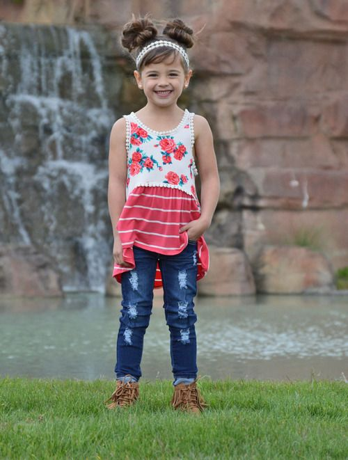 Floral Tank, Stripe Tank, Ryleigh Rue, Online Clothing, Online Boutique, Online Shopping, Kids Clothing, Kids Boutique, Fashion