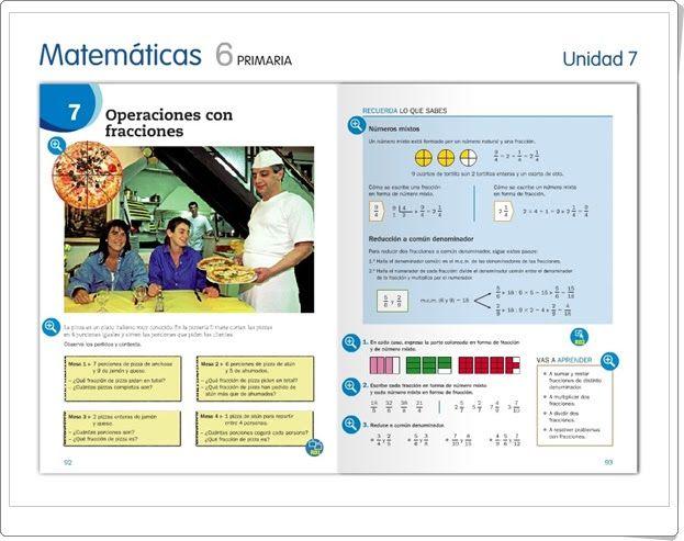 """Unidad 7 de Matemáticas de 6º de Primaria: """"Operaciones con fracciones"""""""