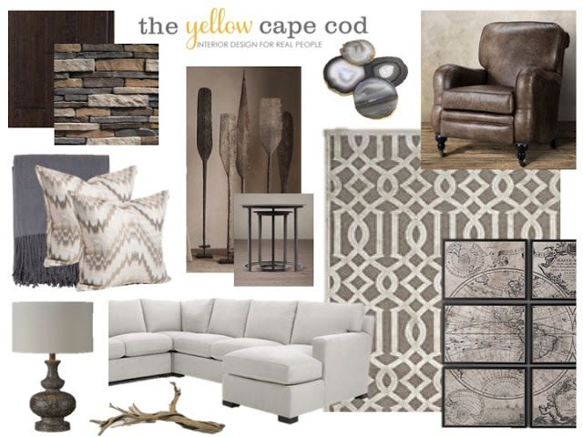 The Yellow Cape Cod: A Unique Family Room Inspired by a Families Travel Mementos
