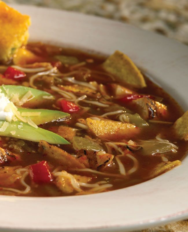 Spicy tortilla soup scoutingcuisine scoutingmagazine for Award winning dutch oven dessert recipes