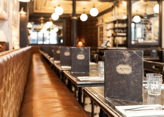 .Les Antiquaires: Finding a Good Paris Bistrot. Look how worn the menus are!