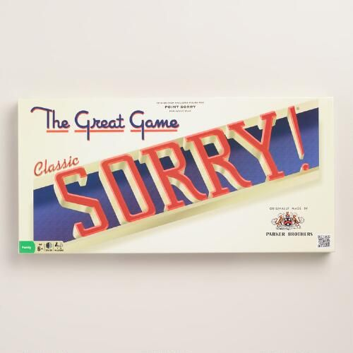 One of my favorite discoveries at WorldMarket.com: Retro Sorry Board Game