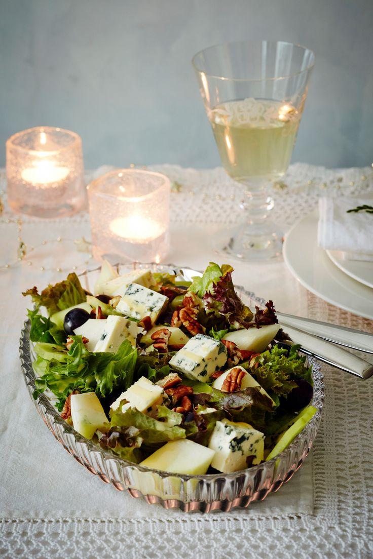 Sinihomejuusto-hedelmäsalaatti | K-ruoka #uusivuosi