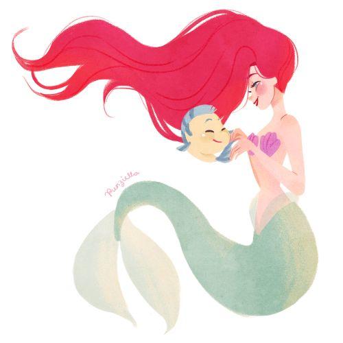 Ariel Art Print by Punziella