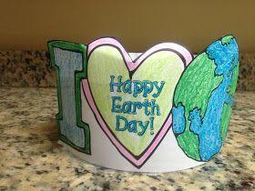Krazee 4 Kindergarten: Earth Day Freebie! Includes Headband & Writing Printables