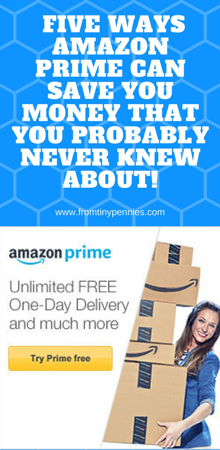 Five ways Amazon Prime can save you money.  I did not know all the ways that I can save with Amazon Prime, but I am learning.   #affiliate #amazon #amazonprime