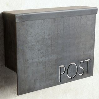 Standard Modern Mailbox by Austin Outdoor Studio - Why settle for a boring, old mailbox when you could hang this outside your door? I love t...