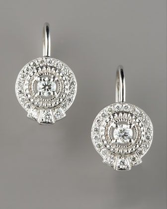 Pave Diamond Drop Earrings by Penny Preville at Neiman Marcus. ~ SO pretty!!!