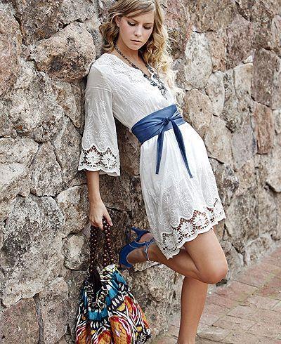 White summer dress - Ojalillo  Cutout