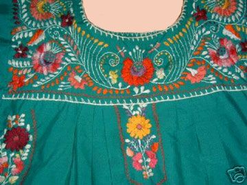 Patterns for Mexican peasant blouses